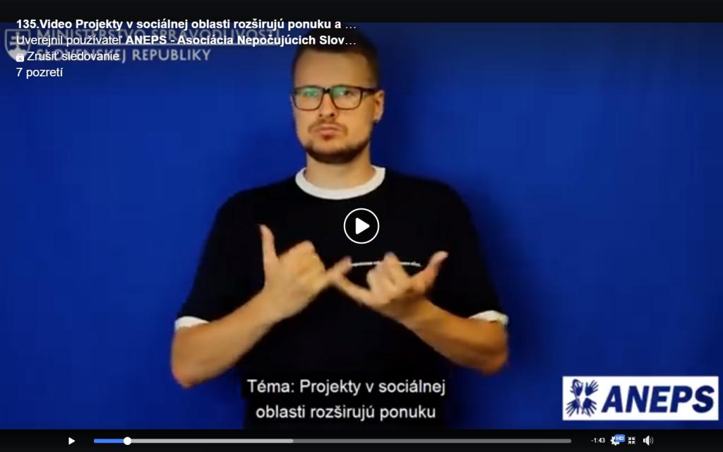 """135.Video – """"Projekty v sociálnej oblasti rozširujú ponuku a kvalitu poskytovaných služieb v Žiline."""""""